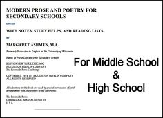 Middle School and High School Treasure from 1914: Prose & Poetry #homeschool #literature #teach