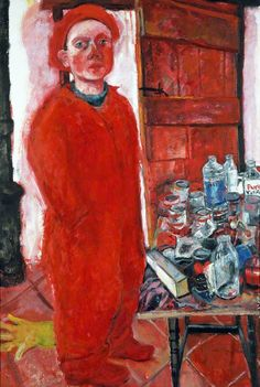Red Self Portrait  by Shani Rhys-James        Date painted: 1992   Collection: National Museum of Wales / Amgueddfa Cymru