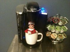 Our elf on the shelf needed a little Monday morning pick me up.