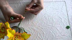 орхидея из фоамирана  сборка