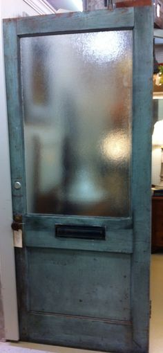 Exceptionnel Vintage Pebble Glass Front Door With Hardware Including Mail Slot  $199