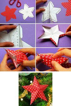 faire une etoile en papier trois dimensions