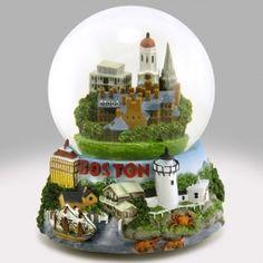 Boston Beautiful Snow Globe