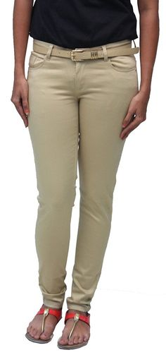 Romano Women's Beige Cotton Slim Fit Trouser *** This is an Amazon Affiliate link. More info could be found at the image url.