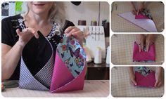 Tutorial bustina in stoffa da appendere #diy #sew #bags