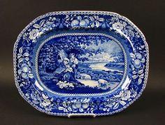 Dark Blue Sheltered Peasants Platter