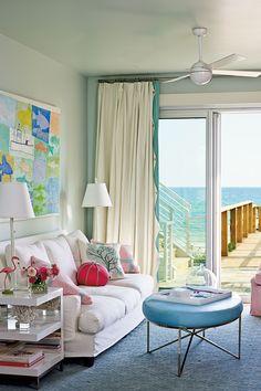 Boardwalk Beauty pastel living room