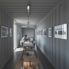 arcgency made to be moved shipping container office building copenhagen designboom Container Architecture, Container Buildings, Sustainable Architecture, Shipping Container Office, Shipping Container Design, Container Van, Cargo Container Homes, Container Store, Casas Containers