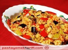 Sebzeli Bulgur Pilavi resimli yemek tarifi, Makarnalar - Pilavlar resimli tarifleri