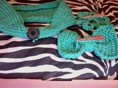 Kelly Green Knitted Button Back Ear Warmer by CuteBrokeCollegeGirl, $18.00
