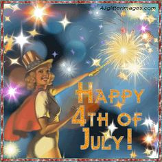 4th July Glitter Graphics