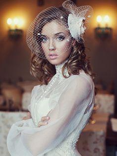 Birdcage veil: vintage and gorgeous!