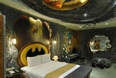 "The Batcave is Batman's escape from his billionaire chores. But the ""Batman Suite"" in Taiwan is ours…minus the billionaire chores, of course."