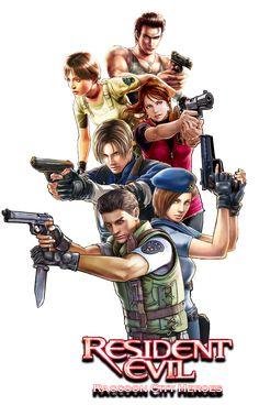Resident Evil Raccoon City Heroes by juniorbunny.deviantart.com on @deviantART