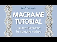 This is a fun variation on a previous macrame tutorial video (No. It features alternating single half hitch knots for texture and an added double diamon. Macrame Wall Hanging Patterns, Macrame Plant Hangers, Macrame Patterns, Macrame Headband, Half Hitch Knot, Chevron Friendship Bracelets, Micro Macramé, Macrame Design, Macrame Projects