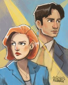 *x-files theme plays* i really wanted to draw something x-files for comic con ok. - mirandakat, tumblr
