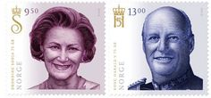 Norway Stamp - 75th birthdays of King Harald and Queen Sonja