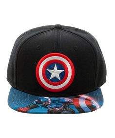 579070ce58905 Black Captain America Shield Baseball Cap Captain America Hat