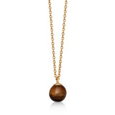 Shop our Tigers Eye Peggy Pendant Necklace from British jewellery designer Astley Clarke. This Colour of Calder pendant necklace features a single tigers eye gemstone sphere hanging from an 18 carat yellow gold plated silver chain. Tiger Eye Jewelry, Lapis Lazuli Pendant, Tigers Eye Necklace, Tigers Eye Gemstone, Gold Necklace, Pendant Necklace, Carat Gold, Semi Precious Gemstones, Fine Jewelry