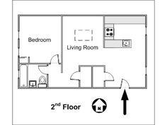 New York 1 Bedroom accommodation - apartment layout  (NY-14781)