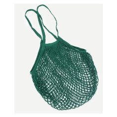 Fishing Net Tote Bag (355 RUB) ❤ liked on Polyvore featuring bags, handbags, tote bags, tote handbags, tote purses, green tote purse, green tote and green tote handbag