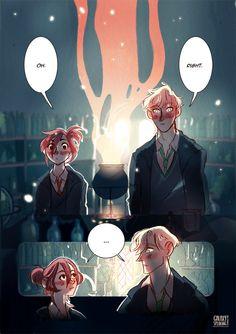 Amortentia, a Scorpius / Rose comic : page IV / VI
