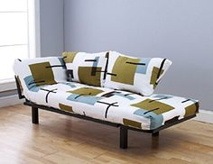 Bright Day Lounger Futon Black Frame w Many to Choose Mattress Fabrics Sofa Bed And Green White >>> Click on the image for additional details.