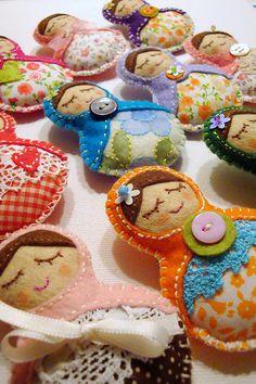 sleeping Babushkas! #Matryoshka #Russian #Nesting #Dolls