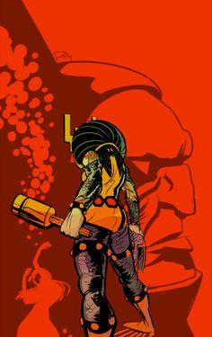Big Barda by Polly Guo Comic Book Characters, Comic Book Heroes, Comic Character, Comic Books Art, Comic Art, Arte Dc Comics, Marvel Comics, Female Furies, Big Barda