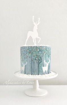 My last customer cake for Hand painted cake. Acrylic topper from Sandra Dillon Design. Wishing you all a very Merry Christmas and a Happy New Year ❤️❤️❤️ Christmas Cake Designs, Christmas Cake Decorations, Christmas Sweets, Holiday Cakes, Christmas Baking, Christmas Cakes, Merry Christmas, Winter Christmas, Winter Torte