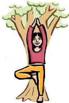 Postures de l arbre et de la grenouille. PedaYOGA .ca · Postures yoga pour  enfants 7a15cbf3c27