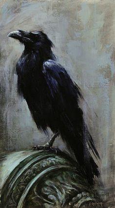 Courtyard Raven Crow Art, Raven Art, Bird Art, Rabe Tattoo, Crow Painting, Jackdaw, Crows Ravens, Foto Art, Gothic Art