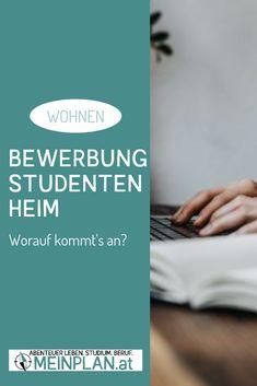 Bewerbung für's Studentenheim: worauf kommt's an? Motivation, Uni, To Study, Student Home, Dorm, Inspiration