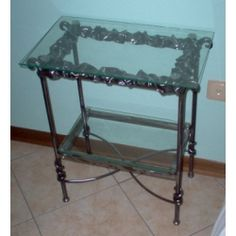 Bedside Table Wrought Iron. Customize Realizations. 875 Vanity Bench, Bedside, Bar Cart, Wrought Iron, Table, Furniture, Home Decor, Dessert Table, Interior Design