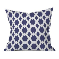 Shop Deny Designs  Daffy Lattice Throw Pillow by Lisa Argyropoulos at The Mine. Browse our outdoor pillows, all with free shipping and best price guaranteed.