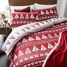 Copriletto Her Side His Side.38 Best Winter Bedrooms Festive For Christmas Images Bedding