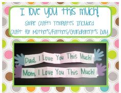 This is a quick and easy craft to do for Mother's Day, Father's Day, Grandparent's Day, etc.  Simply print out the templates and attach student's h...