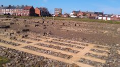 Foundations at Arbeia Fort, South Shields