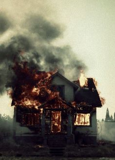 We did what we could / To save this house from falling / But it burns because it's wood / And now you'll never call me darling