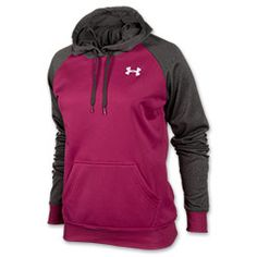 I'm thinking about getting this hoodie or a bright pink big logo hoodie with a purple UA symbol. Which one?! Leaning toward this one.