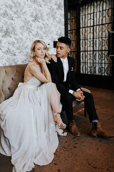 Fashion Forward Scottsdale Wedding in Black, Grey, and Rose Gold