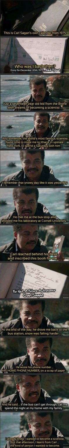 Neil deGrasse Tyson tells about an early interaction with Carl Sagan