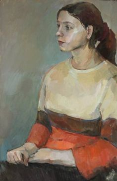 "Saatchi Art Artist Juliya ZHUKOVA; Painting, ""Portrait of Valeria"" #art"