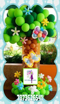 Decoración con globos Patita mia on Pinterest | Balloon Columns ...