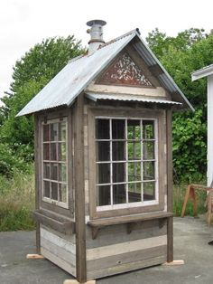 Bob Bowling Rustics On Beautiful Whidbey Island Washington Building Rustic Sheds Greenhouses Chicken Coops Playhouses Retreat Rooms and Outbuildings from Reclaimed and Recycled Materials. Bungalows, Rustic Shed, Indoor Greenhouse, Greenhouse Ideas, Cheap Greenhouse, Backyard Ideas For Small Yards, Large Sheds, Backyard Sheds, Shed Design