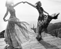 "Taylor Swift & Karlie Kloss in ""On The Road"" for Vogue US, March 2015 Photographed by: Mikael Jansson"