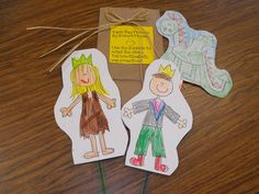 The Paper Bag Princess Fairy Tale Fun - Retelling Puppets by Glyph Girls! Princess Activities, Princess Crafts, Preschool Literacy, Early Literacy, Language Activities, Book Activities, Fairy Tales Unit, Fairy Tale Theme, Author Studies