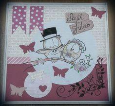 #carterie # carte #mariage #félicitations #hibou #rose
