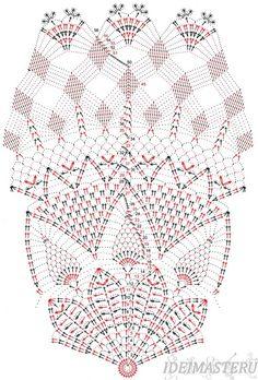 Салфетка,вязанная,крючком,круглая,схема,описание,бесплатно,красивая,ананас,рукоделие