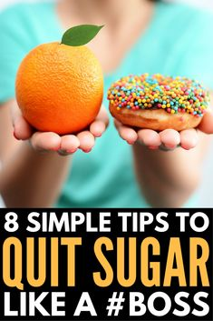 How to Quit Sugar like a Boss Looking for tips to curb sugar cravings? We're sharing our simple plan to teach you the side effects of sugar addiction, the benefits of cutting sweets out of your diet, and how to find the motivation to cut sugar ou Ginger Benefits, Health Benefits, Health Tips, Smoothie Proteine, Effects Of Sugar, Up For The Challenge, Sugar Detox, Sugar Cravings, Motivation